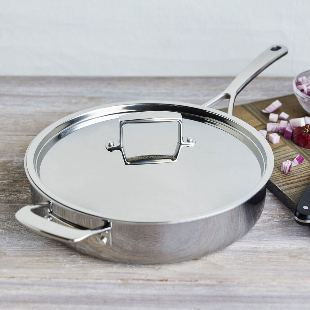 Sur La Table La Marque 84 Stainless Steel Sauté Pan with Lid, 5 qt.