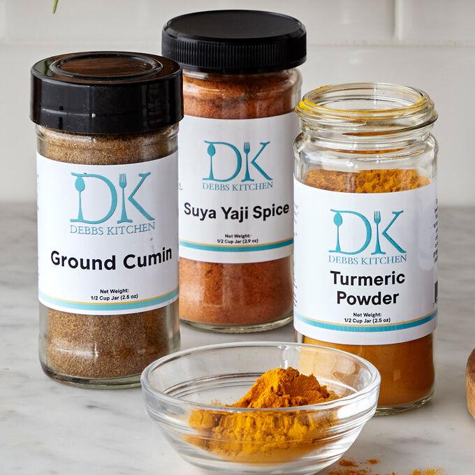Debbs Kitchen Suya Yaji, Cumin and Turmeric Spice Set