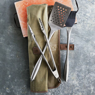 Sur La Table 3-Piece Stainless Steel Tool Set in Chef's Roll