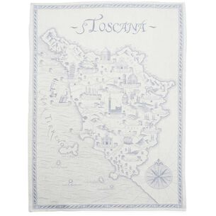 "Toscana Blue Jacquard Kitchen Towel, 30"" x 20"""