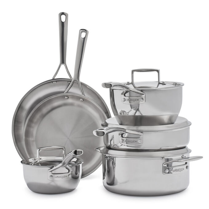 Sur La Table La Marque 84 10-Piece Stainless Steel Cookware Set