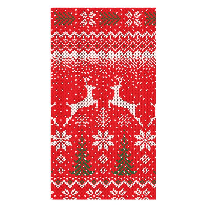 Winter Fair Isle Guest Napkins, Set of 15