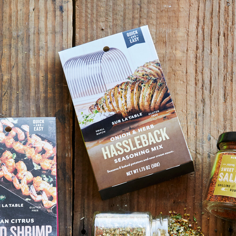 Sur La Table Roasted Onion and Chive Hasselback Potato BBQ Tent