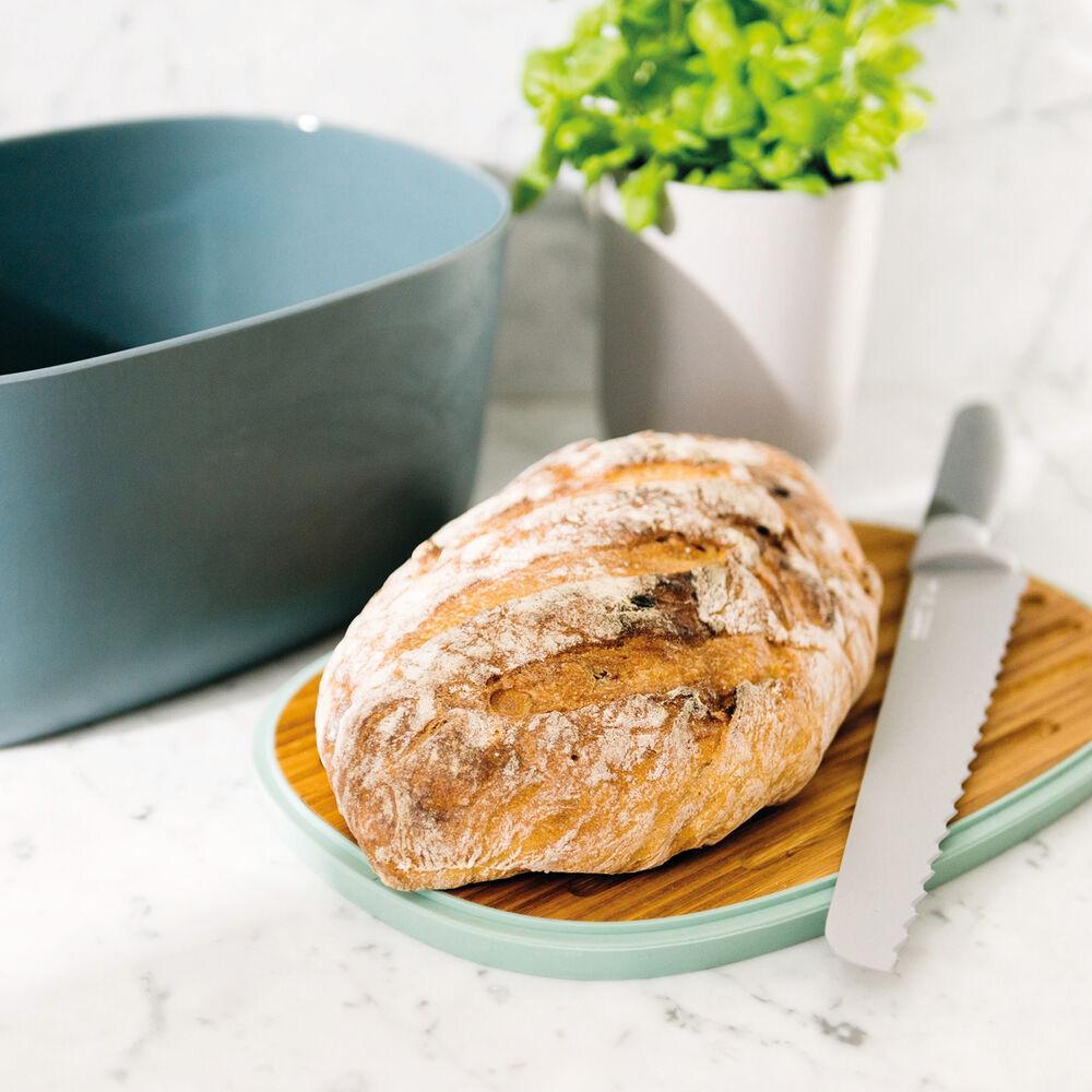 "Leo 12.5"" Bread Box with Cutting Board"