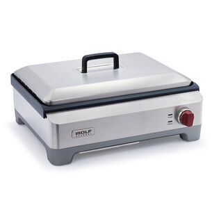 Wolf Gourmet Stainless Steel Electric Griddle with Vented Lid