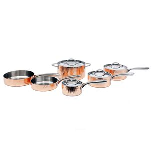 BergHOFF Vintage 10-Piece Hammered Copper Cookware Set