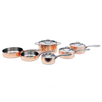 BergHOFF Vintage 10-Piece Hammered Copper Cookware Set