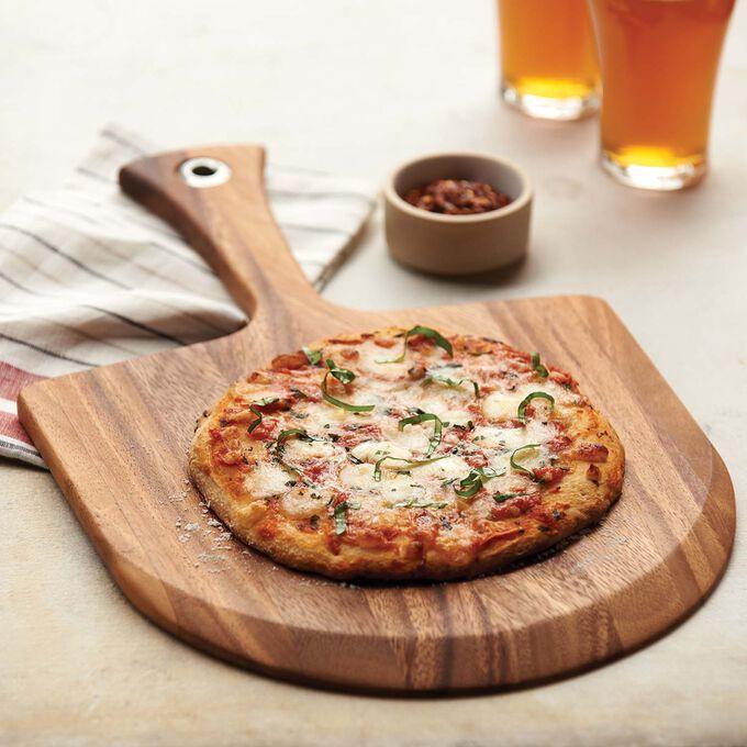 Lucca Acacia Wood Mini Pizza Peel