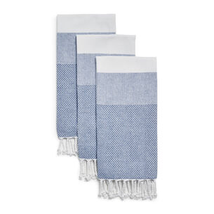 Ocean Tassel Kitchen Towels, Set of 3