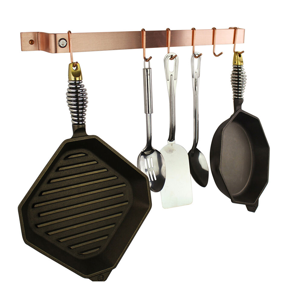 Enclume Brushed Copper Easy-Mount Wall Racks