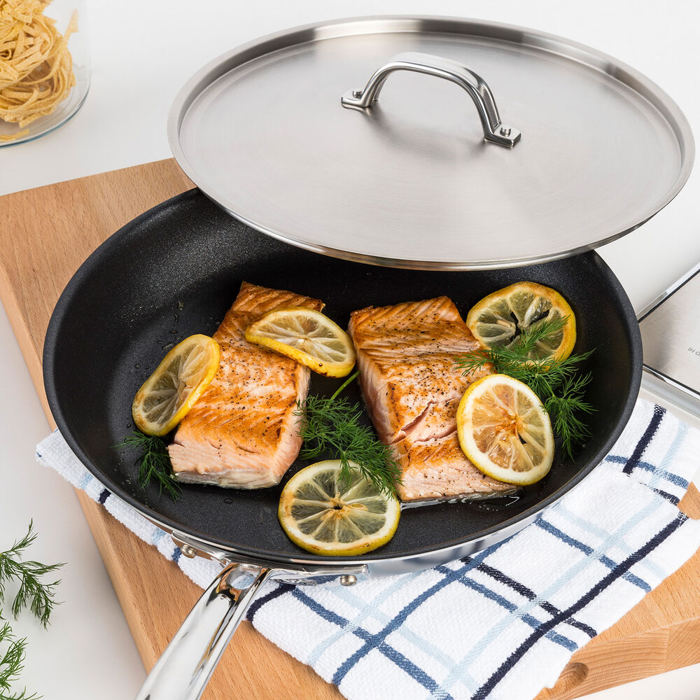 Viking Professional 5-Ply Stainless Steel Nonstick Skillet with Lid