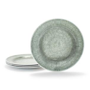 Reactive Glaze Melamine Outdoor Dinner Plates, Set of 4