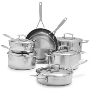 Demeyere Industry5 12-Piece Cookware Set with Thermo Lids