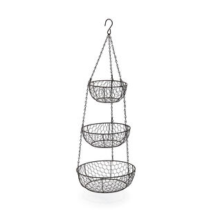 Three-Tier Hanging Basket, Bronze