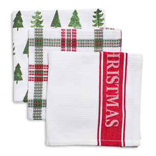 Merry Christmas Dishcloths, Set of 3