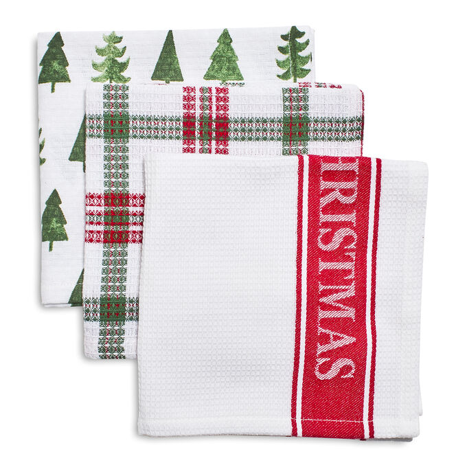 Merry Christmas Dishcloths, Set of 3