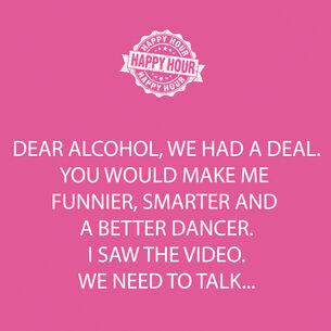 """""""Dear Alcohol"""" Paper Cocktail Napkins"""