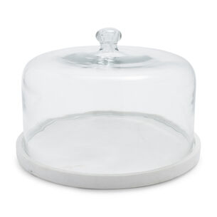 Marble and Glass Cloche