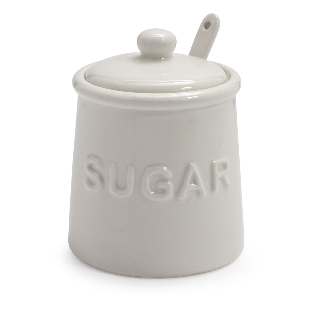 Sugar Bowl with Lid and Serving Spoon