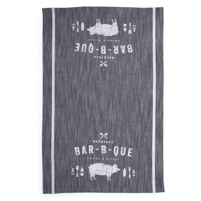 """BBQ Pig Kitchen Towel, 28"""" x 18"""""""