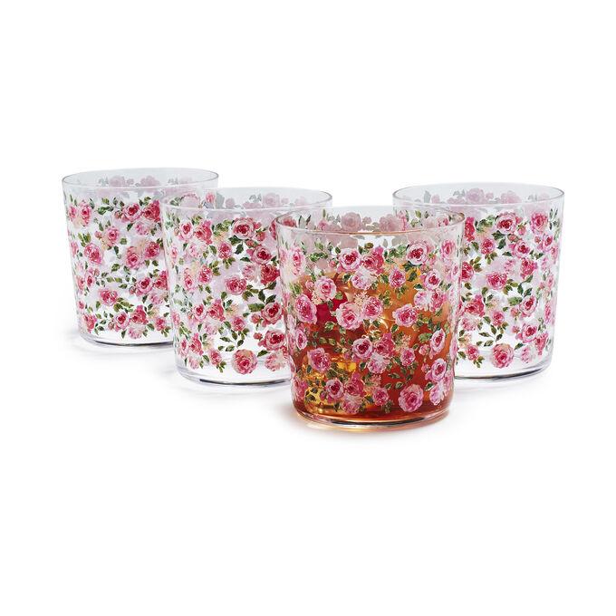 Rose Nuage Acrylic Glasses, Set of 4