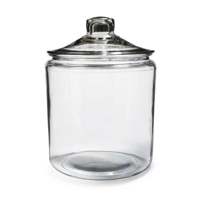 Anchor Hocking Glass Heritage Jars, Flour Storage Jars Glass
