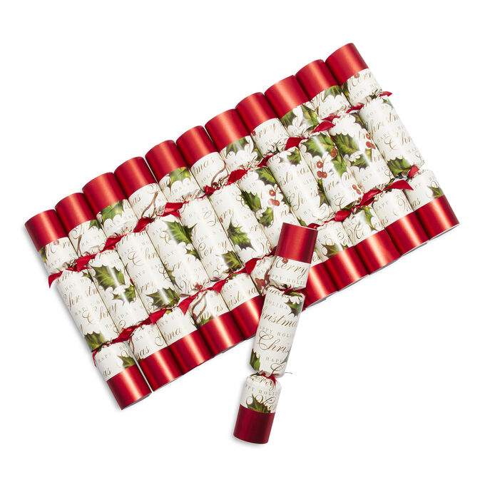 Bows & Berries Party Crackers, Set of Eight
