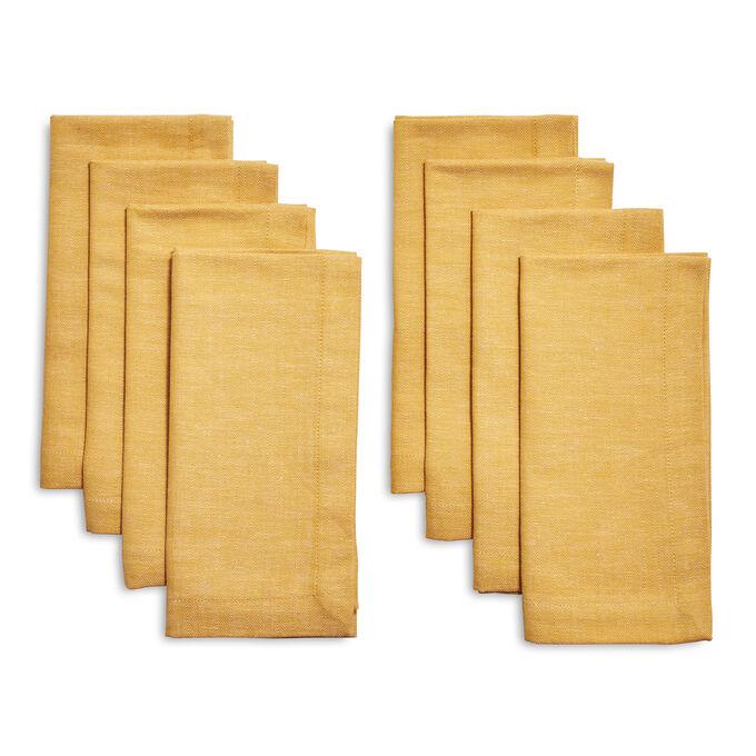 Herringbone Napkins, Set of Eight