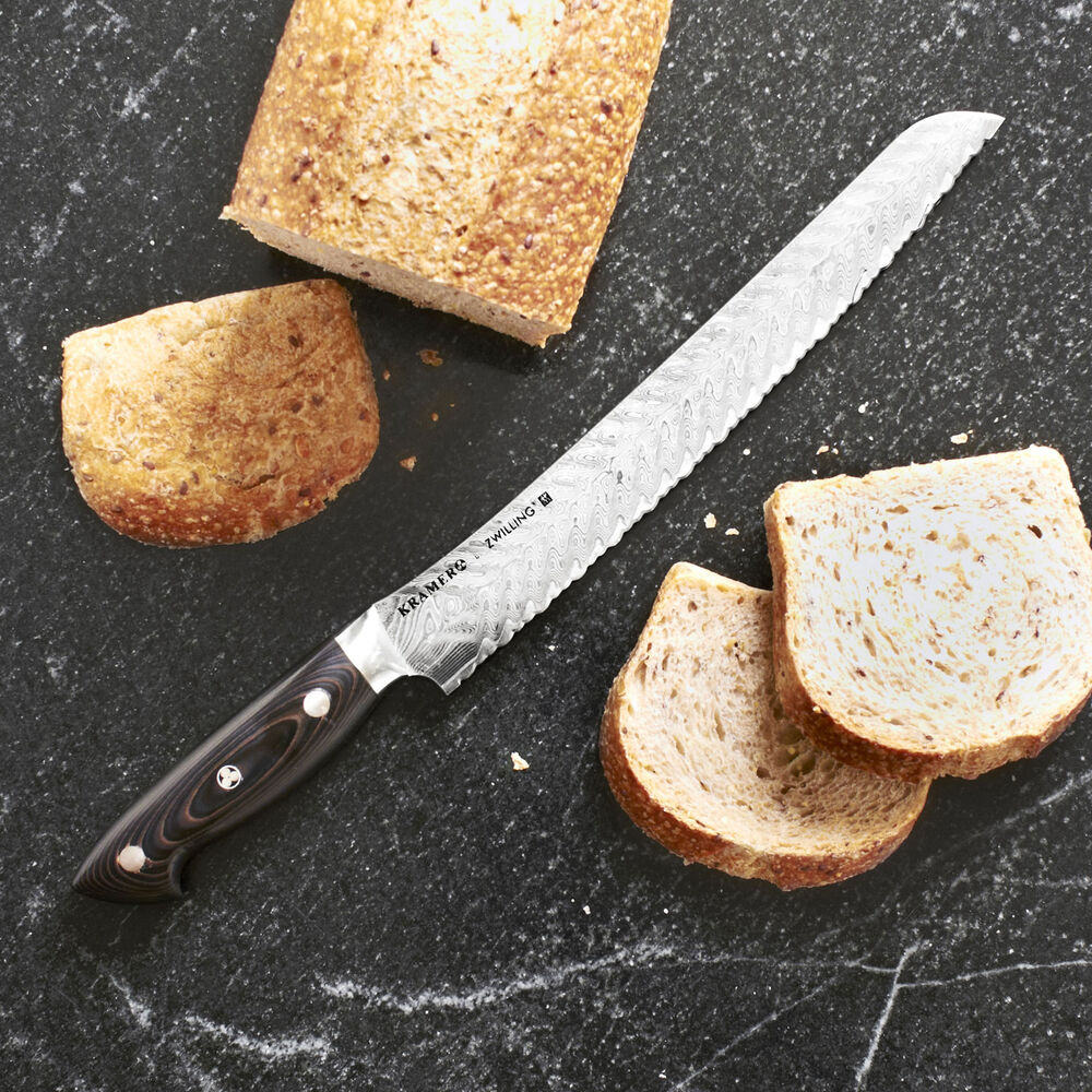"Bob Kramer 10"" Stainless Damascus Bread Knife by Zwilling J.A. Henckels"