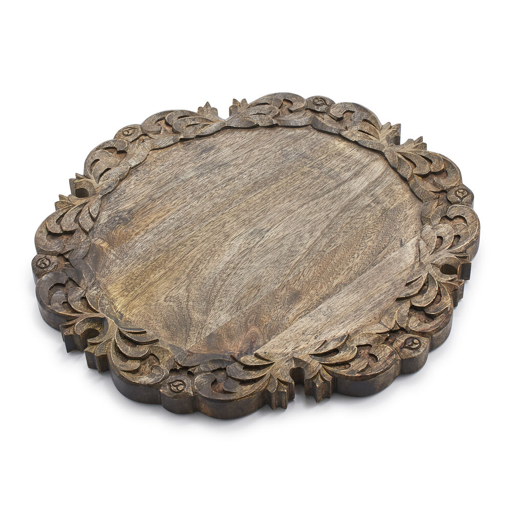 Mango Wood Round Scroll Board