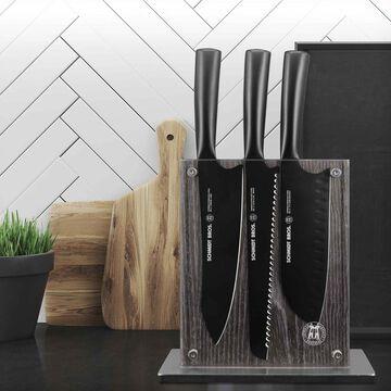 Schmidt Brothers Cutlery Jet Black 7-Piece Knife Block Set