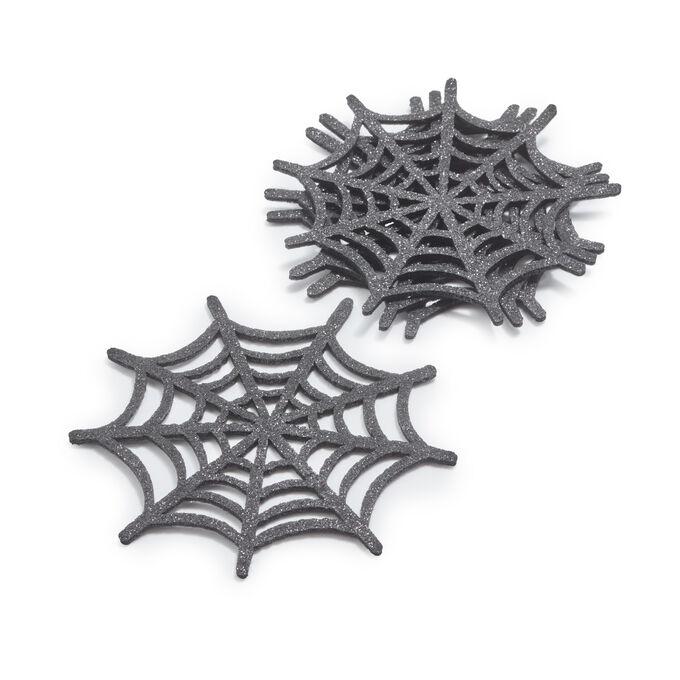 Halloween Spider Web Coasters, Set of 4