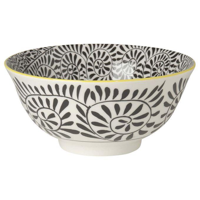 "Stamped Vines Pattern Bowl, 6"""