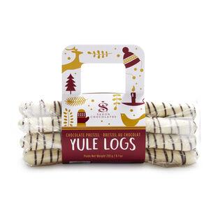 Saxon Chocolate Pretzel Yule Logs, Pack of 10
