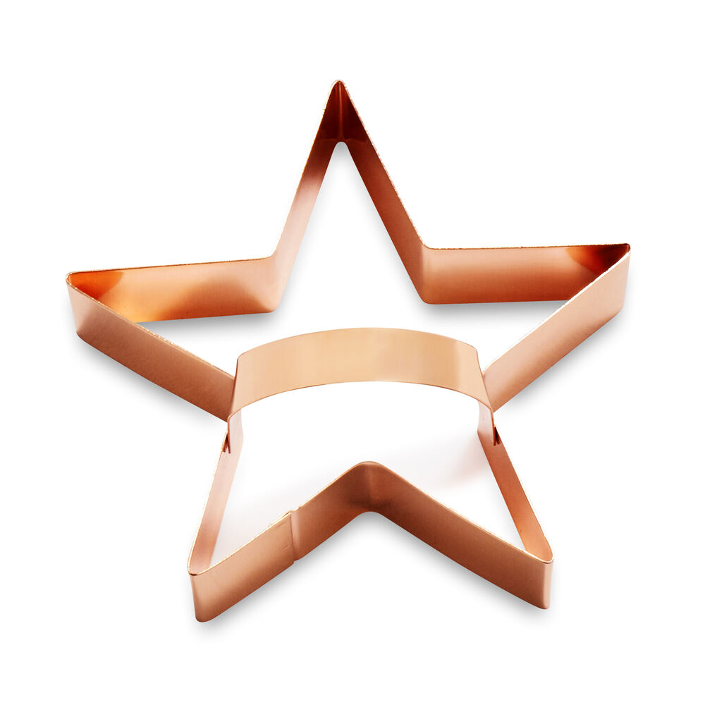 Sur La Table Copper-Plated Star Cookie Cutter with Handle, 4""
