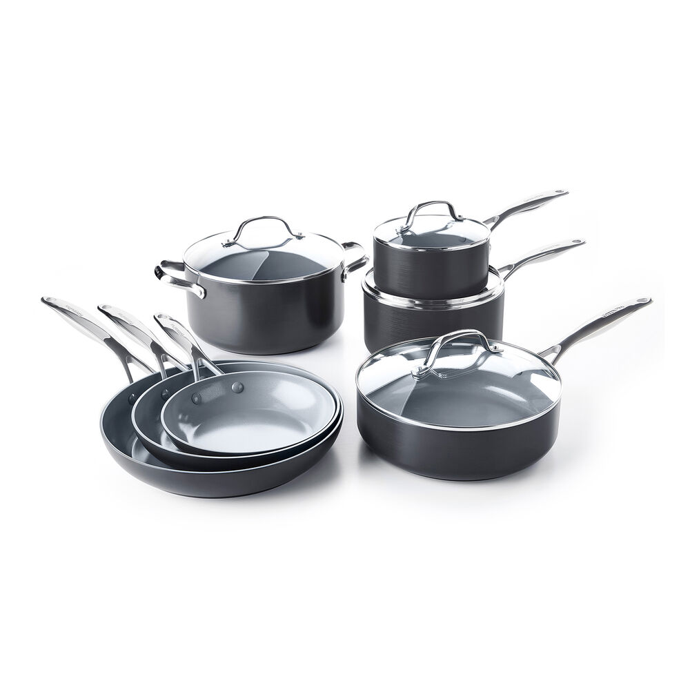 GreenPan Valencia Pro Ceramic Nonstick, Set of 10 + Bonus
