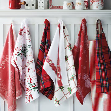 """Holly Grid Kitchen Towel, 28"""" x 20"""""""