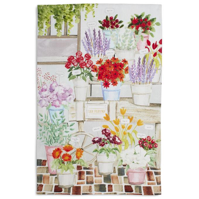"""Flower Shop Kitchen Towel, 28"""" x 18"""""""