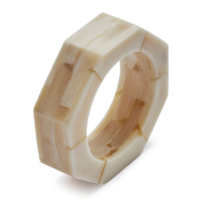 Stacked Bone Napkin Rings, Set of 4