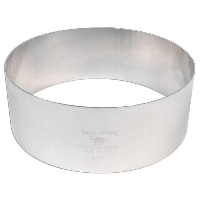 """Aluminum Cake Rings, 3"""" x 3"""""""