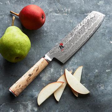 "Miyabi Birchwood Nakiri Knife, 7"""