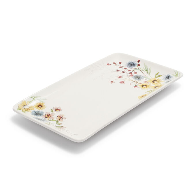 "Wildflower Rectangular Platter, 14"" x 8"""