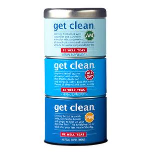 The Republic of Tea Get Clean Stackable Tea Tins, Set of 3