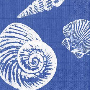 Shell Blue Cocktail Napkins, Set of 20