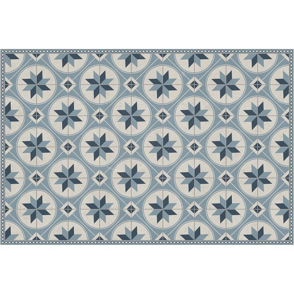 Starburst Tile Vinyl Floor Mat