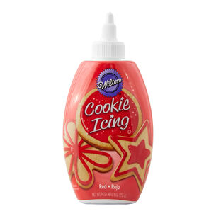 Wilton Cookie Icing, Red, 10 oz.