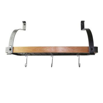 Enclume Hammered Steel & Tigerwood Signature Bookshelf Rack