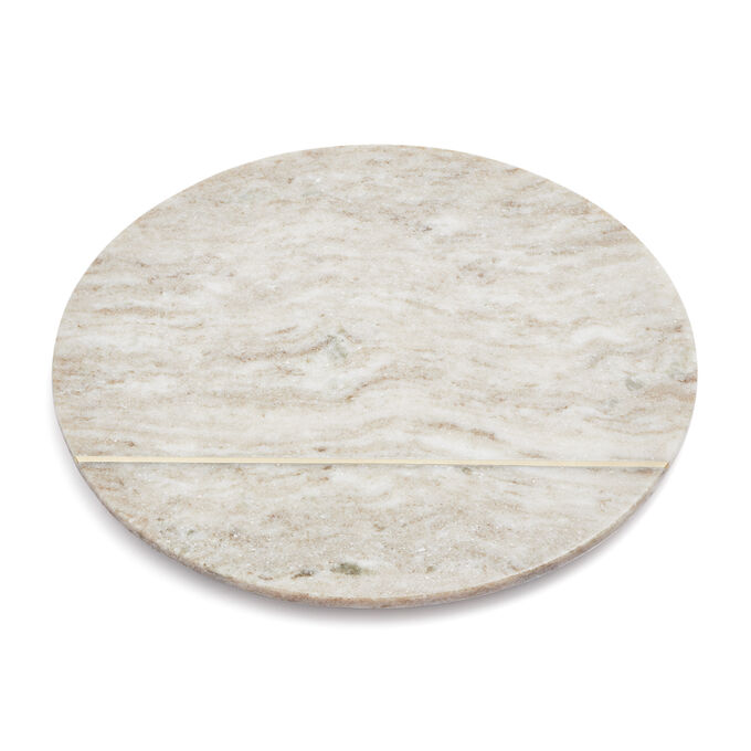 Beige Marble Round Cheese Board, 12""