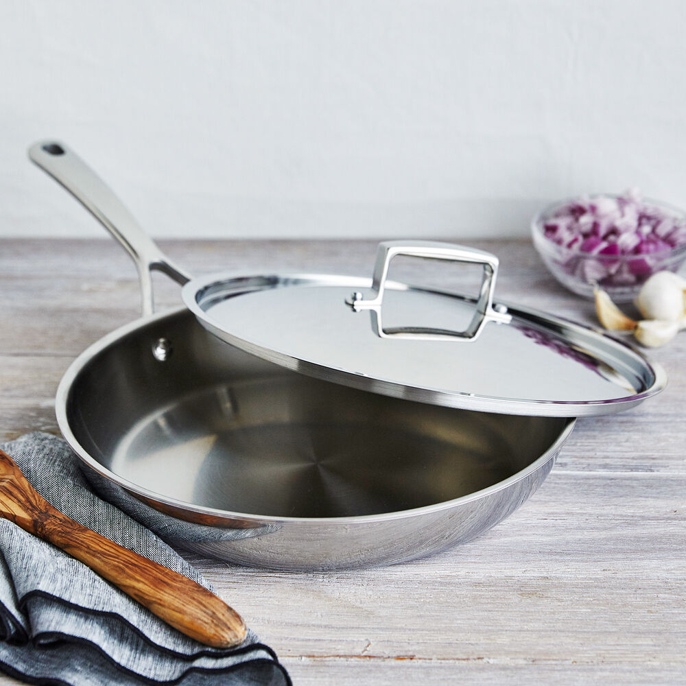 Sur La Table La Marque 84 Stainless Steel Skillet with Lid, 12""