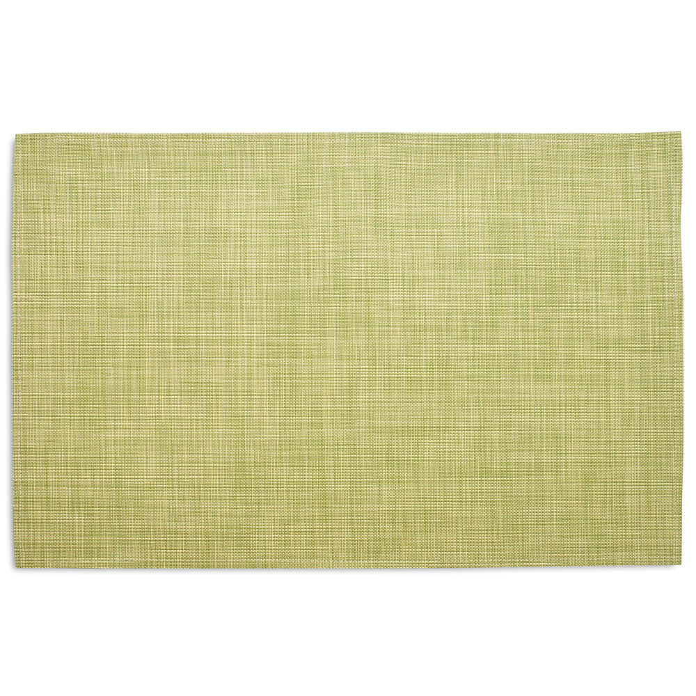 Chilewich Mini Basketweave Floor Mat, Dill